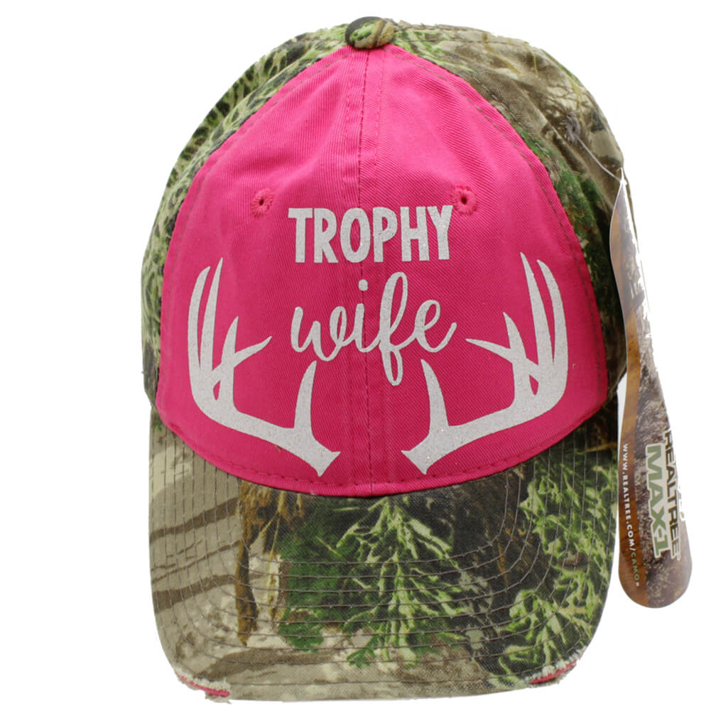 Trophy Wife Realtree Pink Camo Hat Show Me Country